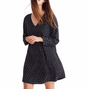 Madewell Silk Star Dress Back Buttons XS